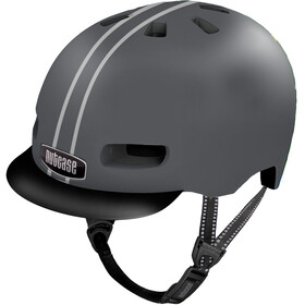 Nutcase Street MIPS Casco, suit and tie stripe matte reflective